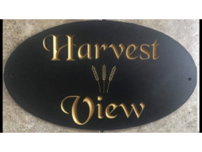 Oval Welsh Slate House Signs